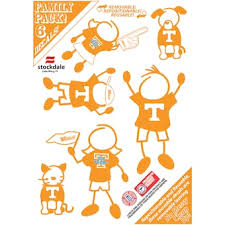 University Of Tennessee Car Decals Decal Sets Tennessee Vols Car Decal Shop Utsports Com
