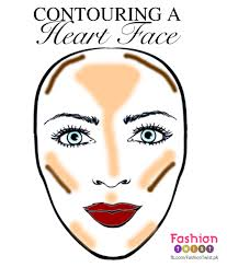 good makeup for heart shaped faces