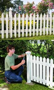 Here S How To Build A Picket Fence For Your Yard Step By Step And Pictures All On The Blog Diy Garden Fence Backyard Fences Fence Design