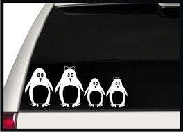 Penguin Family Car Decals Stickers Stick By Signpainterchris Family Car Decals Car Decals Stickers Car Decals