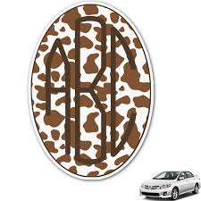 Cow Print Monogram Car Decal Personalized Youcustomizeit