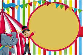 Invitaciones De Circo Para Tu Cumpleanos Invitaciones De Circo