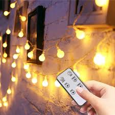 Amazon Com Globe String Lights For Bedroom Super Cute Fairy Led Hanging Lights For Kids Room Wall Decorative Indoor Living Room Outdoor Patio 49ft 100led Home Improvement