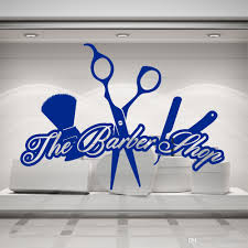 The Barber Shop Shave Vinyl Wall Decals For Haircut Salon Wall Window Decal Sticker Nordic Home Decoration Art Murals Wall Stickers For Office Wall Stickers For Sale From Joystickers 11 67 Dhgate Com