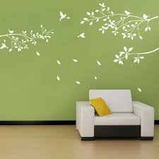White Trees Branches Birds Design Wall Decor Art Diy Decal Sticker Home Room Bedroom Livingroom Decoration New 650 600 Mm Wall Stickers Aliexpress