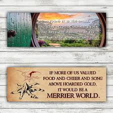 the hobbit quotes double sided bookmark mysite