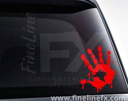Bloody Handprint Vinyl Decal Sticker