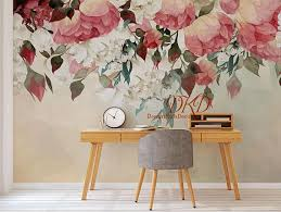 Beautification For Peonies Wall Decals