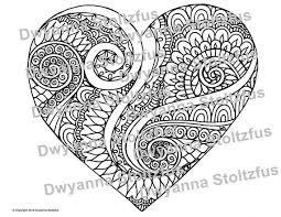 Swirls Van Liefde Kleurplaat Pagina Jpg Etsy