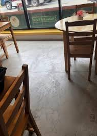 concrete etching acid wash or grinding