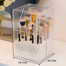 acrylic clear makeup brush holder