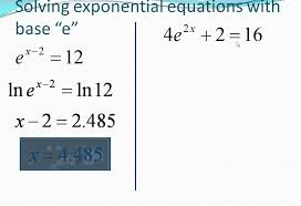 solving natural log equations you