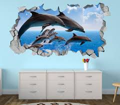Dolphin Wall Art 3d Decals Awesome Stuff 365