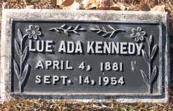 Lue Ada Kennedy (1881-1954) - Find A Grave Memorial
