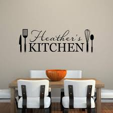 Kitchen Wall Decal Personalized Name Vinyl Decals Kitchen Utensils Removable Wall Decor Stickers Waterproof Decorative Personalized Wall Stickers Polka Dot Wall Decals From Joystickers 7 88 Dhgate Com
