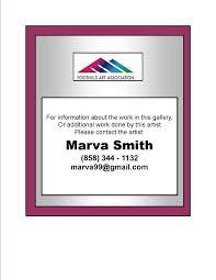 Marva Smith | foothills