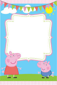 Peppa Pig Invite Card All I Did Was Added Image To Paint