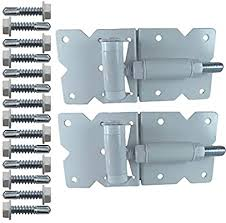 Amazon Com Vinyl Gate Hinges White For Vinyl Pvc Etc Fencing Vinyl Fence Gate Hinges W Mounting Hardware Vinyl Gate Hinges Have A 90 Degree Bracket Resulting In A Positive Hinge To Gate Connection