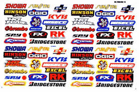 Buy 1 Sheet New Multi Logo Car Motocross Atv Enduro Bike Racing Decal Sticker Sk57 Motorcycle In Phasi Charoen Bangkok Thailand For Us 2 89