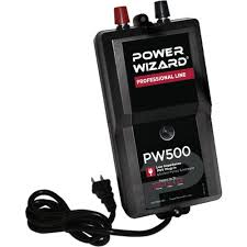 Power Wizard 110v Plug Ln Fence Charger 0 5 Joule Ramm Horse Fencing Stalls