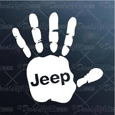 Jeep Hand Wave Decal Jeep Hand Wave Car Sticker New Designs
