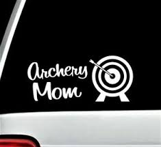 Archery Mom Decal Sticker For Car Window 8 0 Inch Bg452 Arrows Target Quiver Set Ebay