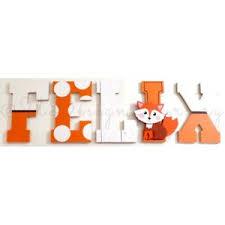 Wooden Wall Letters Custom For Baby Fox Themed Nursery Kids Room Fox Decor Sign Ebay