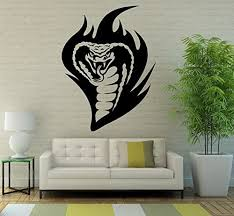 Amazon Com Snake Cobra Wall Decal Vinyl Sticker Reptile Animal Art Wall Removable Home Decor 16snk9 Kitchen Dining