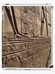 egyptian wall art ipad case skin by