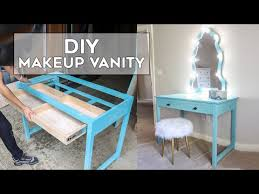 diy makeup vanity how to install