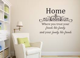 Home Treat Friends Like Family Vinyl Wall Decal Sticker Lettering Home Decor 36