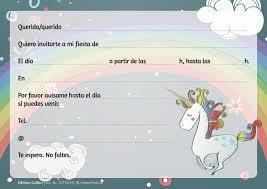 Edition Colibri 10 Invitaciones En Espanol Unicornio Jgo 1