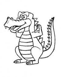 Dieren Kleurplaat Krokodil Kleurboek Dieren Kleurplaten