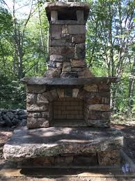 outdoor fireplace westport island