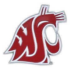 Set Of 2 Ncaa Washington State University Cougars Color Emblem Automotive Stick On Car Decal Christmas Central