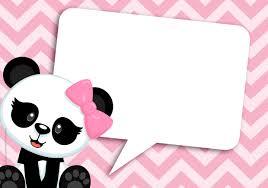 Panda Girl Pink Invitacion 3 En 2020 Fiesta Tematica De Panda