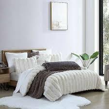 cannon white faux fur comforter king