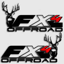Fx4 Whitetail Deer Truck Decals Ford Hunting Stickers