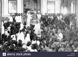 Mahatma Gandhi at a meeting of women Chennai Tamilnadu India Stock ...