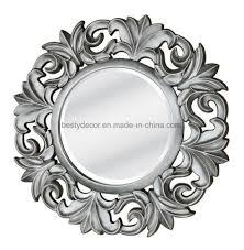 frame round decorative mirror wall