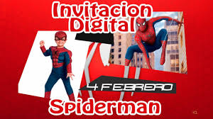 Invitacion Virtual Spiderman I Youtube