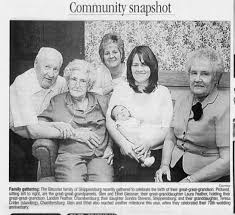 5 Generations Glen L Glessner brother to Vivian Glessner Holtry 2007 -  Newspapers.com