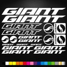 Compatible Giant Vinyl Decal Stickers Sheet Bike Frame Cycle Cycling Bicycle Mtb Ebay