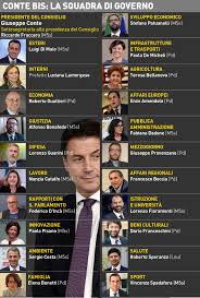Ecco i ministri del governo Conte-bis