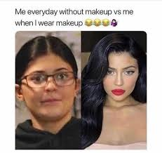 me everyday without makeup vs