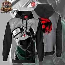 Áo khoác hoodie Naruto Kakashi Sharingan 3D Black mẫu mới cực đẹp | Shop  AoThunGameVn