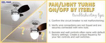 ceiling fan stopped or light not