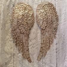 metal angel wings wall decor art frame