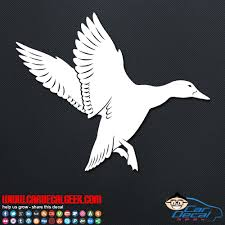 Flying Duck Car Window Vinyl Decal Sticker Hunting Decals