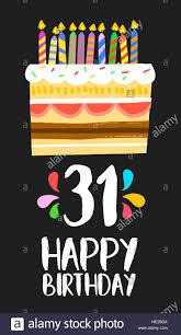 Feliz Cumpleanos Numero 31 La Operacion De Tarjetas De